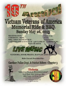 2013 Veterans Ride Flyer